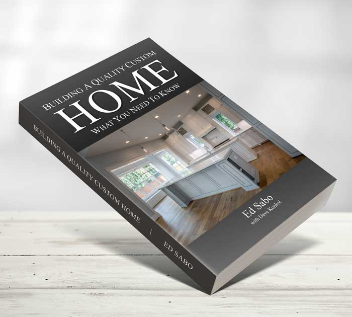 book cover for building a quality custom home by Ed Sabo